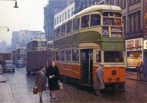 Maryhill Tram 1960s (c) http://www.oldglasgow.com/